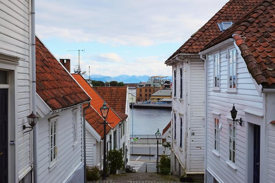 View to Stavanger harbor