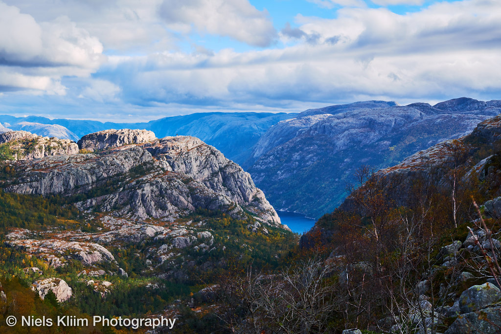 view over mountain tops