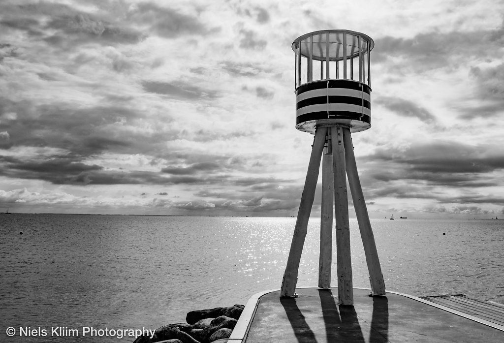 Lifeguard tower on Bellevue beach near Copenhagen